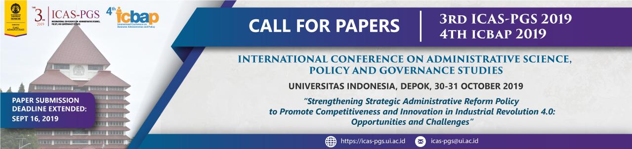 3rd ICAS-PGS Universitas Indonesia – Universitas